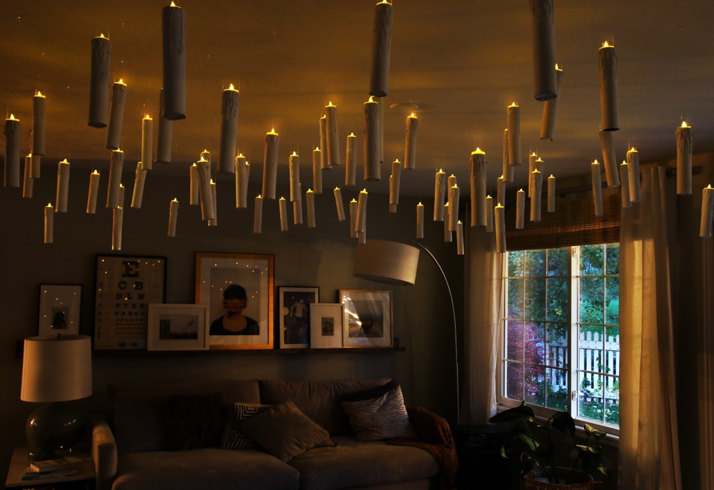 DIY Harry Potter-esque Hanging Candles + Party Decor ...