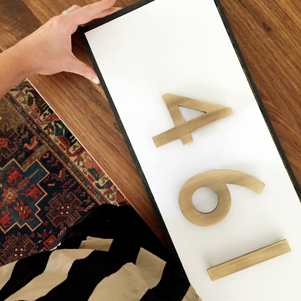 Modern House Number DIY — rafthubs - ^