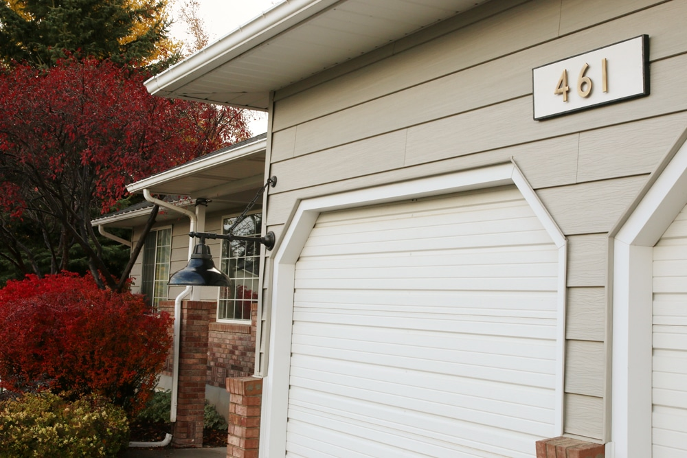 We Have Small Gold House Numbers Against The Siding Right By Our Front Door  Which Have Always Been Hard To See. We Are In The Process Of Replacing  Those ...