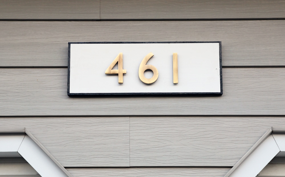 DIY Modern Traditional House Number Plaque - Chris Loves Julia