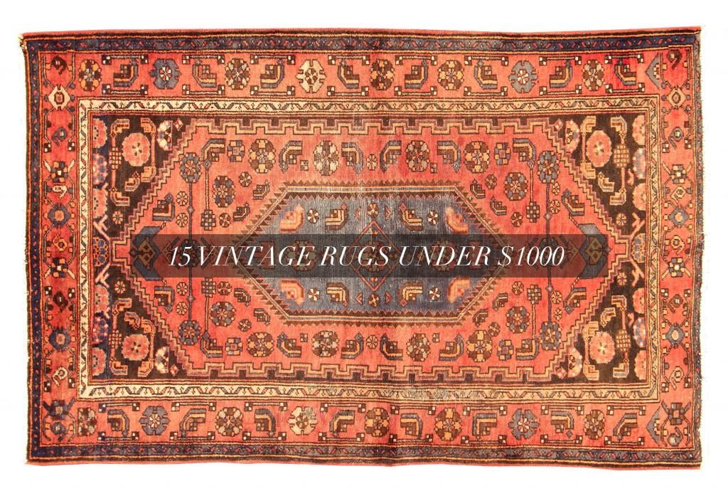 15 Vintage Rugs Under $1000