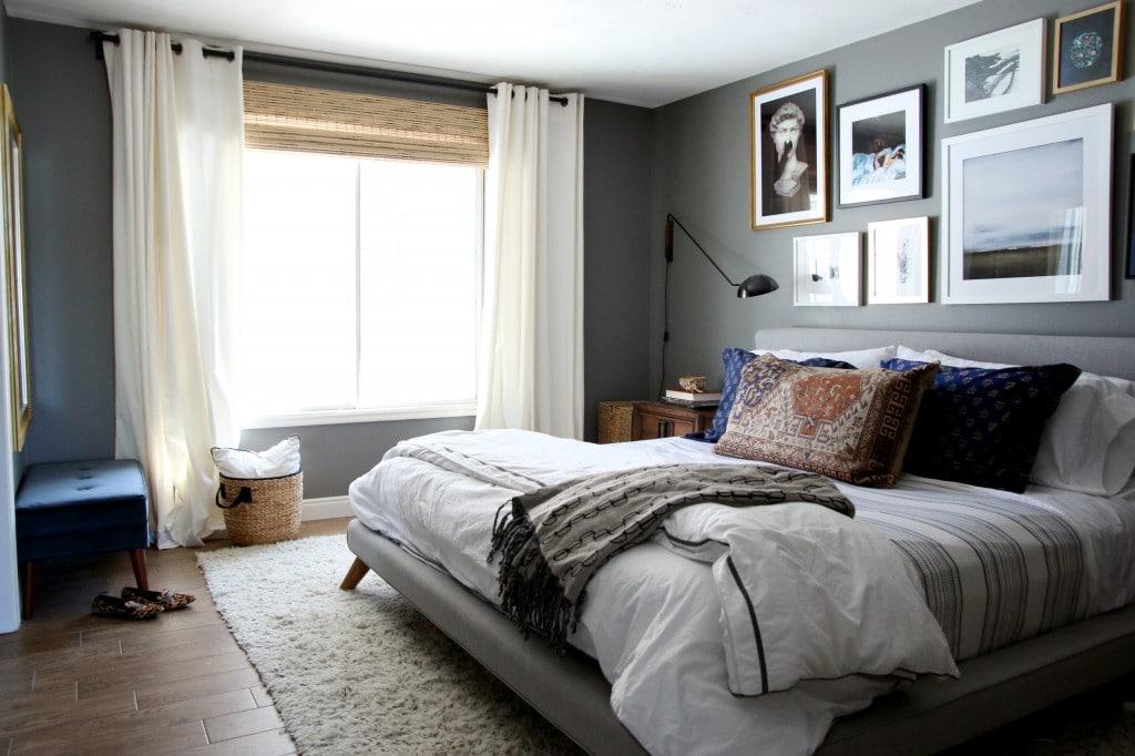 West Elm Mod Upholstered Bed   Chris Loves Julia