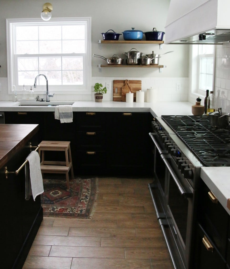 Ikea Kitchen with White Concrete Countertops | Chris Loves Julia