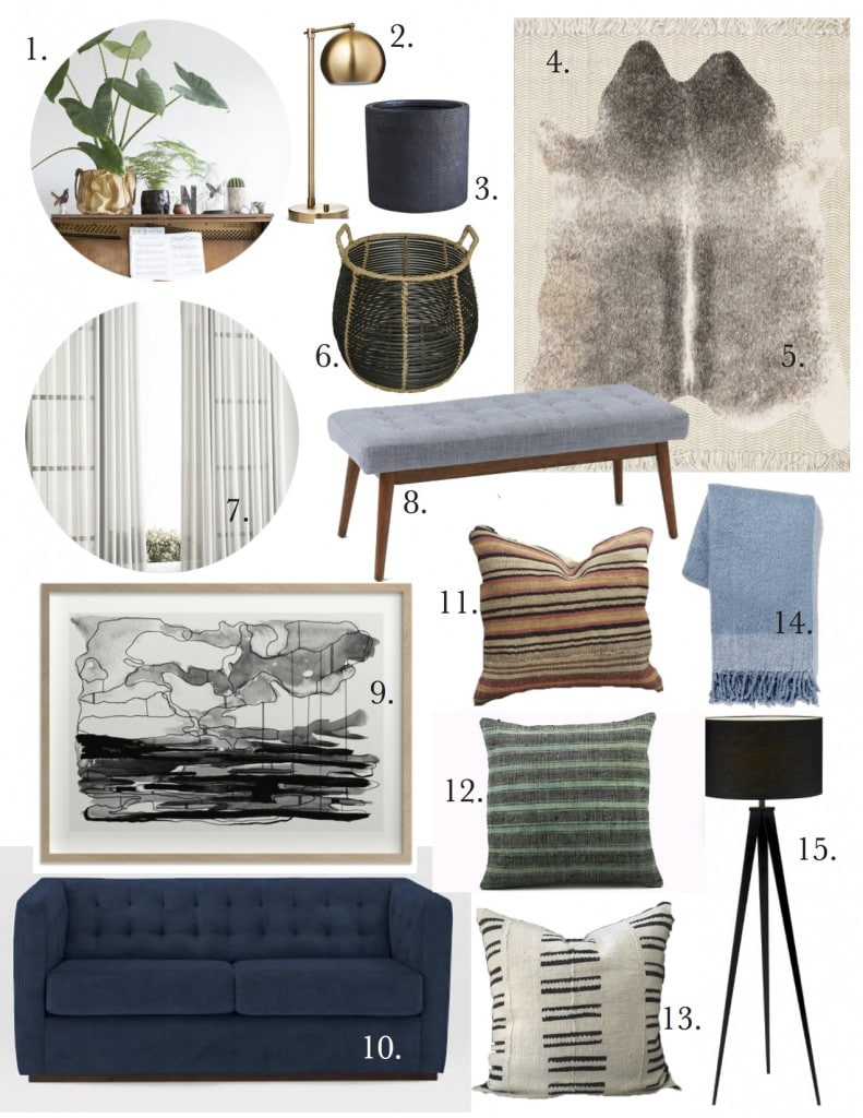 Ashley's Music Room Mood Board + E-Design is Back!