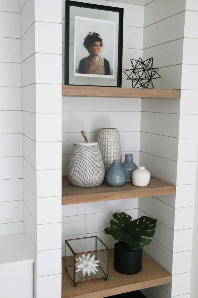 DIY Shiplapped Built-Ins: Finished and Styled!
