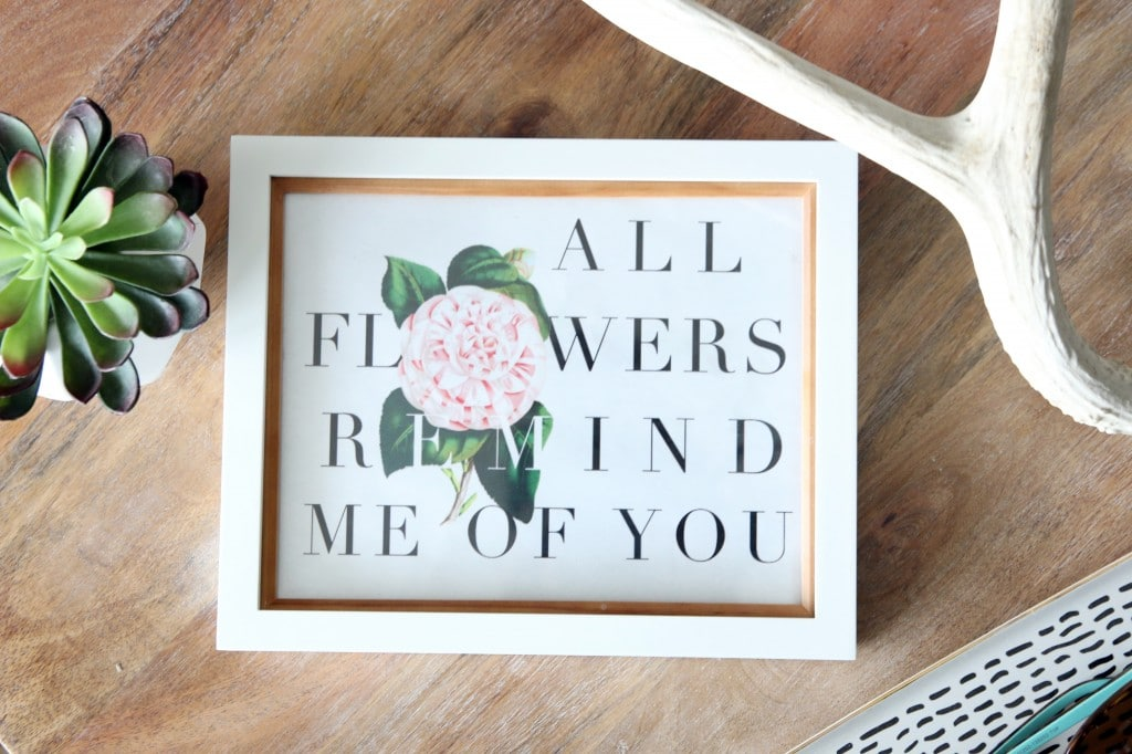 All Flowers Remind Me of You, Mom + Free Printable! | Chris Loves Julia