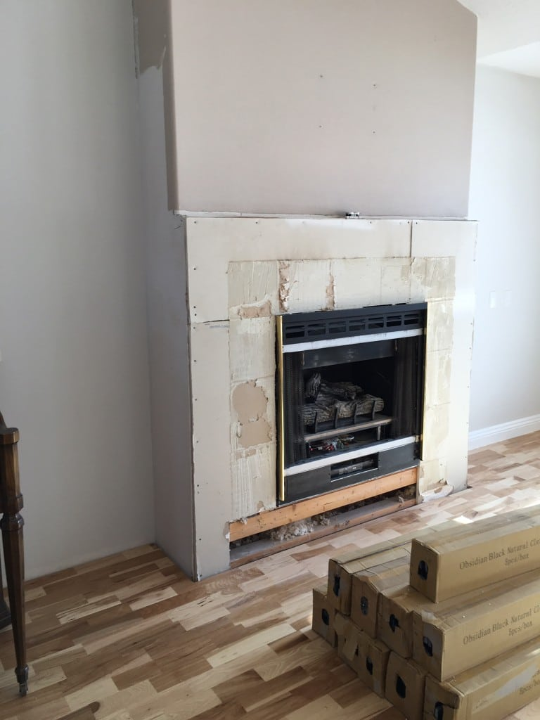 Before and After Fireplace: From Squatty to Stacked Stone | Chris Loves Julia