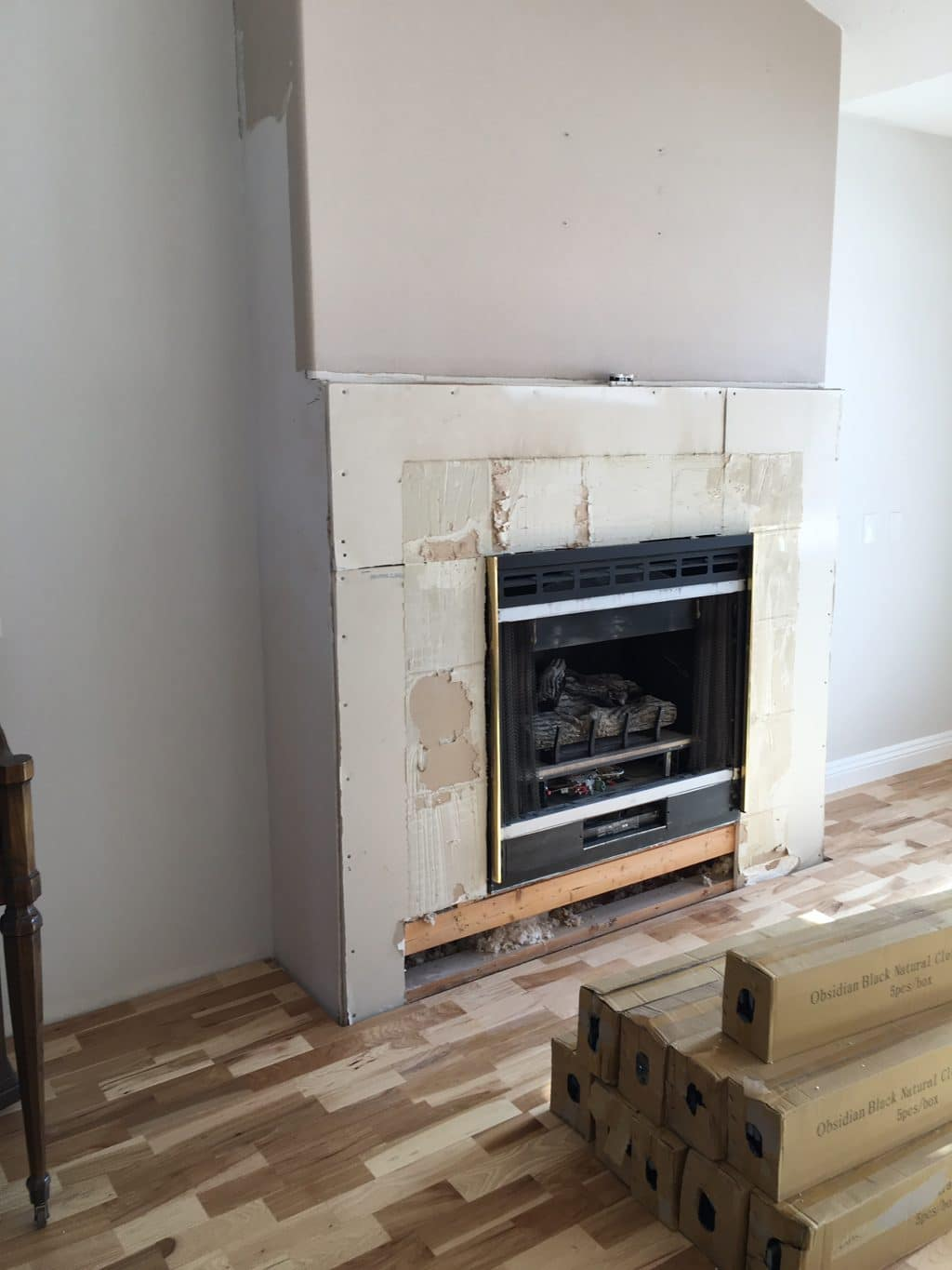 Before And After Fireplace From Squatty To Stacked Stone