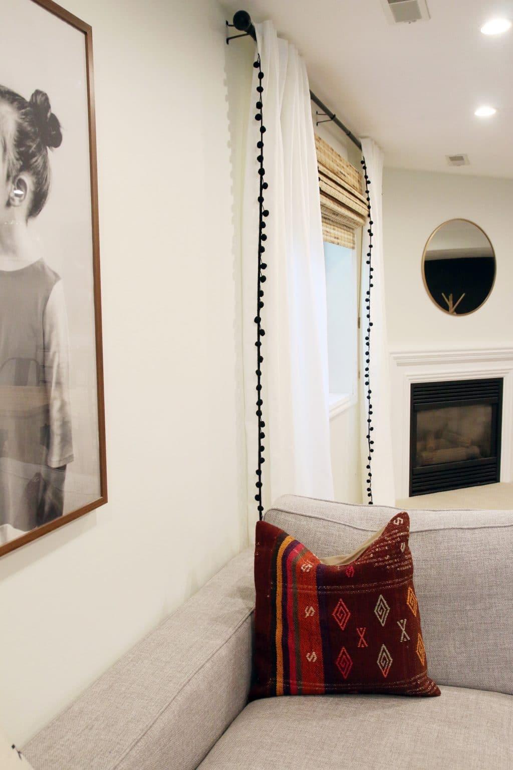 DIY Pom Pom Curtains | Chris Loves Julia