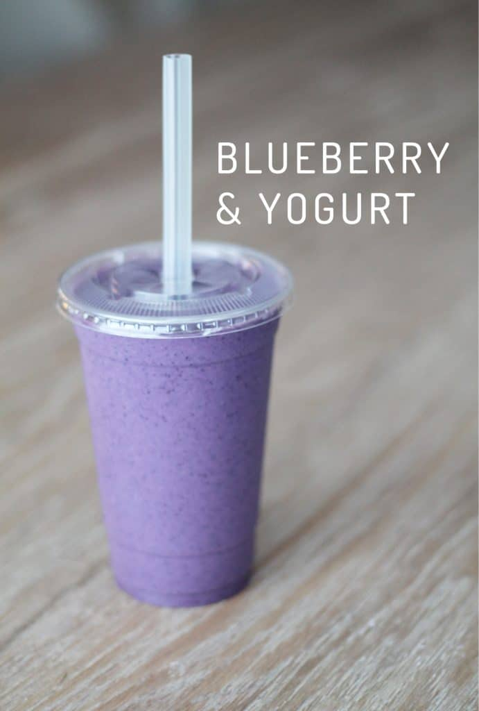 Blueberry & Yogurt Smoothie ( This one is so smooth and alkaline! When ...