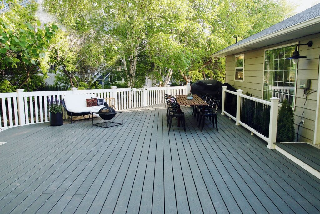 Trex Deck in Clam Shell | Chris Loves Julia