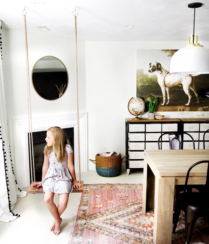 how to make an indoor swing chris loves julia. Black Bedroom Furniture Sets. Home Design Ideas