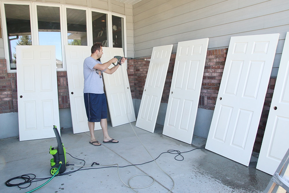 Hand Painting Vs. Spraying Our Interior Doors | Chris Loves Julia