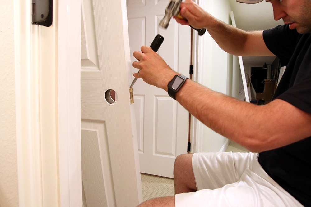 Hand-Painting vs. Spraying Our Interior Doors | Chris Loves Julia