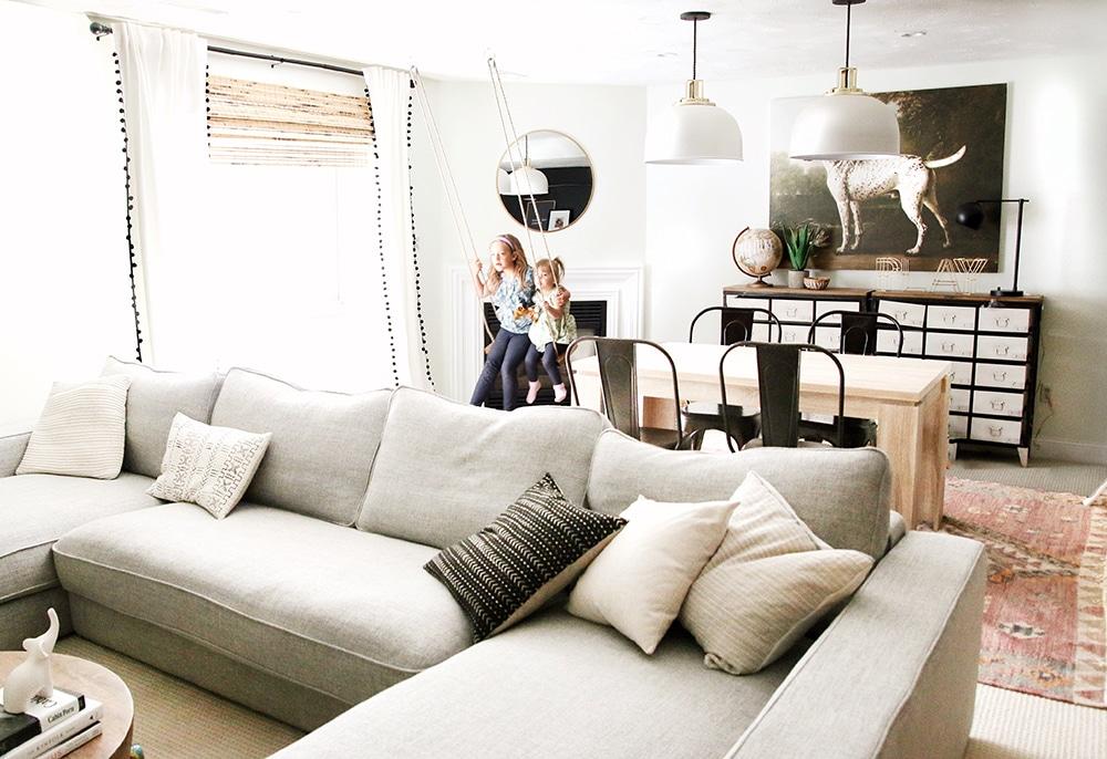 Family Room/Playroom by Chris Loves Julia