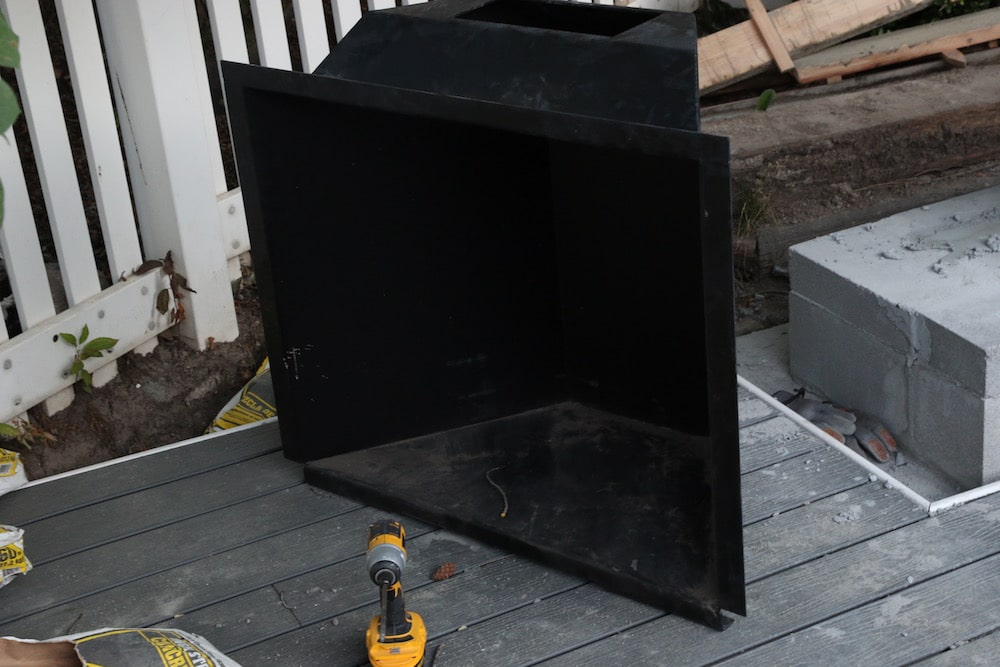 First Look: Our Outdoor Fireplace