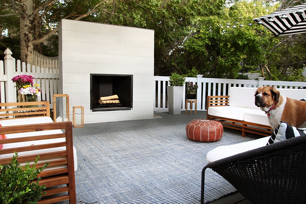 How to Build an Outdoor Fireplace - Chris Loves Julia