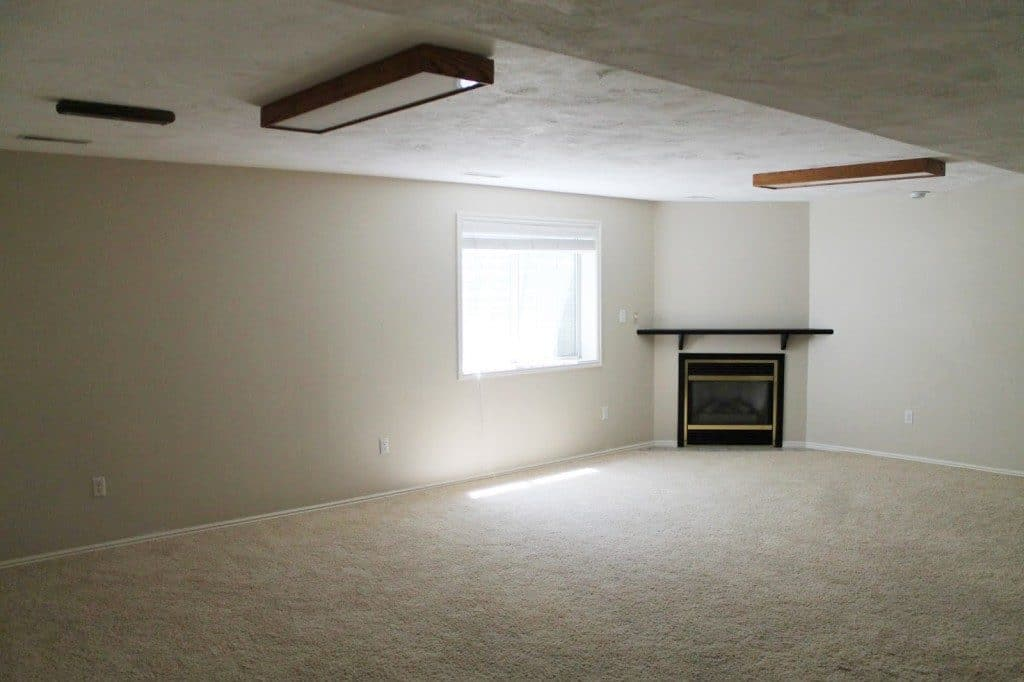 Before And After: Our Basement Family Room is Finished!