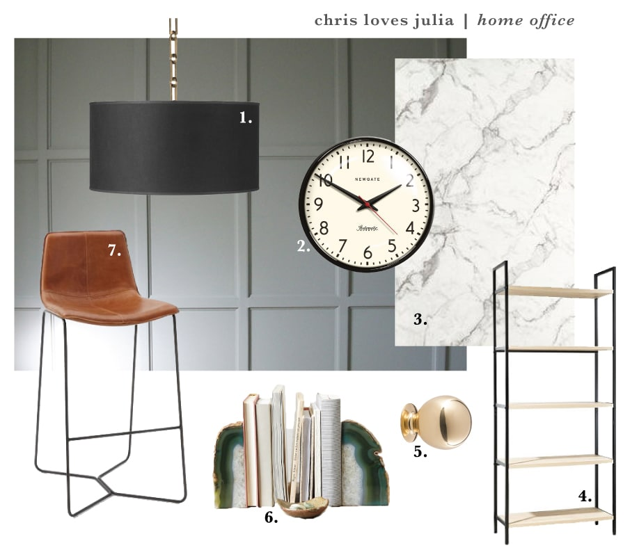 A Peek at Our DIY Standing Desk + The Home Office Mood Board | Chris Loves Julia