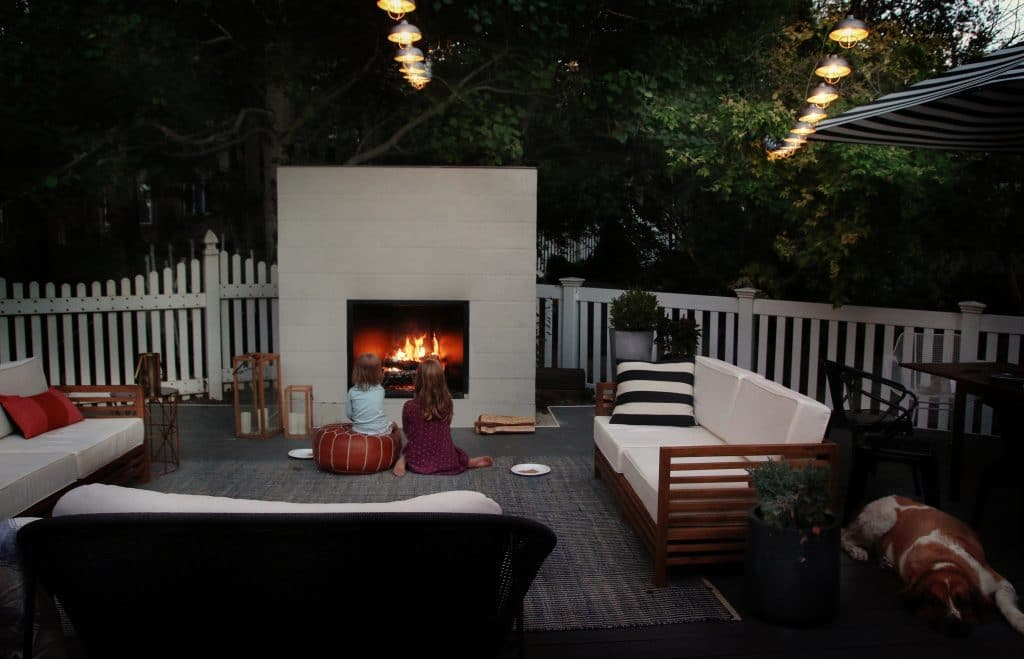 how to build an outdoor fireplace chris loves julia