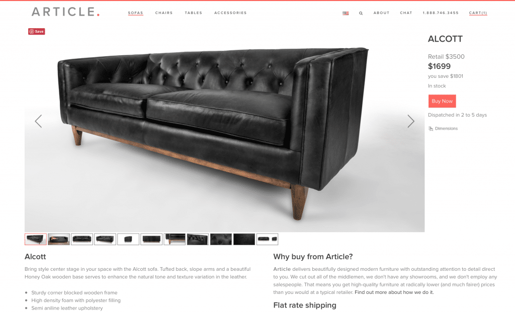 Our New Modern Chesterfield Black Leather Sofa Chris Loves Julia
