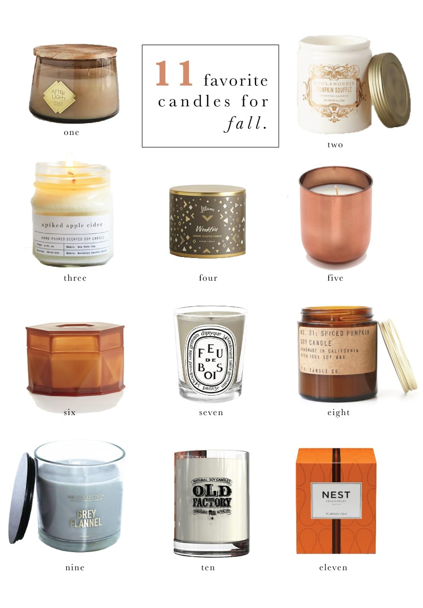 11 Favorite Candles for Fall | Chris Loves Julia