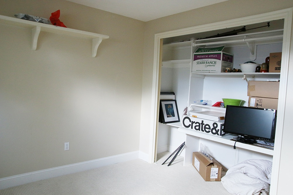 Turning a Bedroom Closet Into Office Storage. Using Bookcases in a Bedroom Closet   Chris Loves Julia