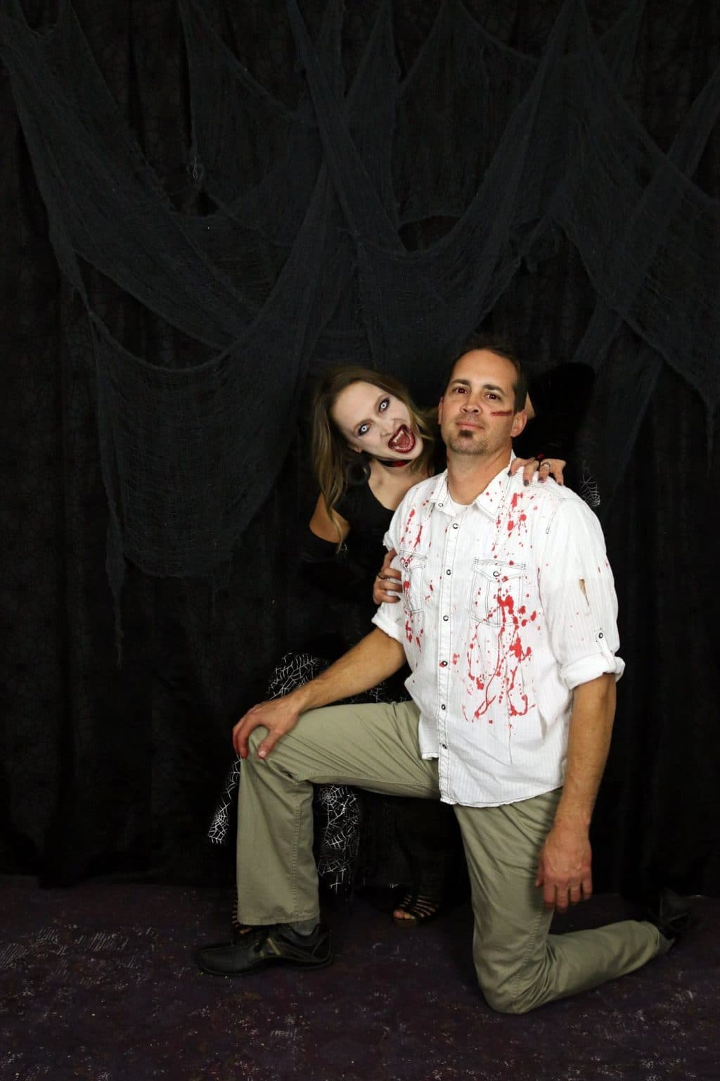 A vampire and her victim costume!