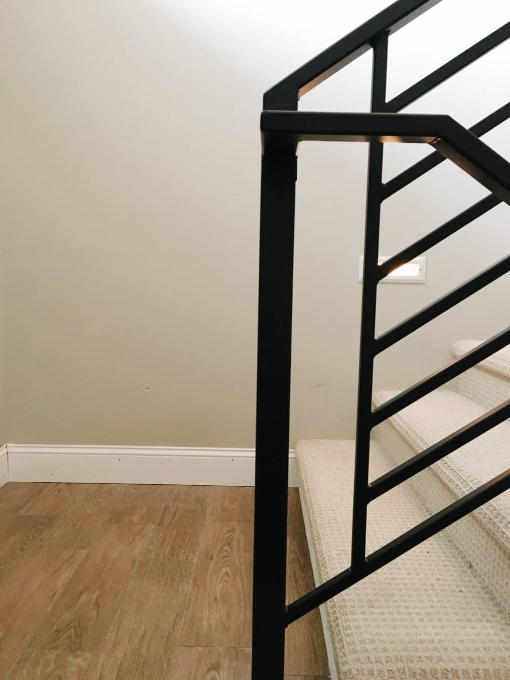 Horizontal handrail with vertical element | Chris Loves Julia