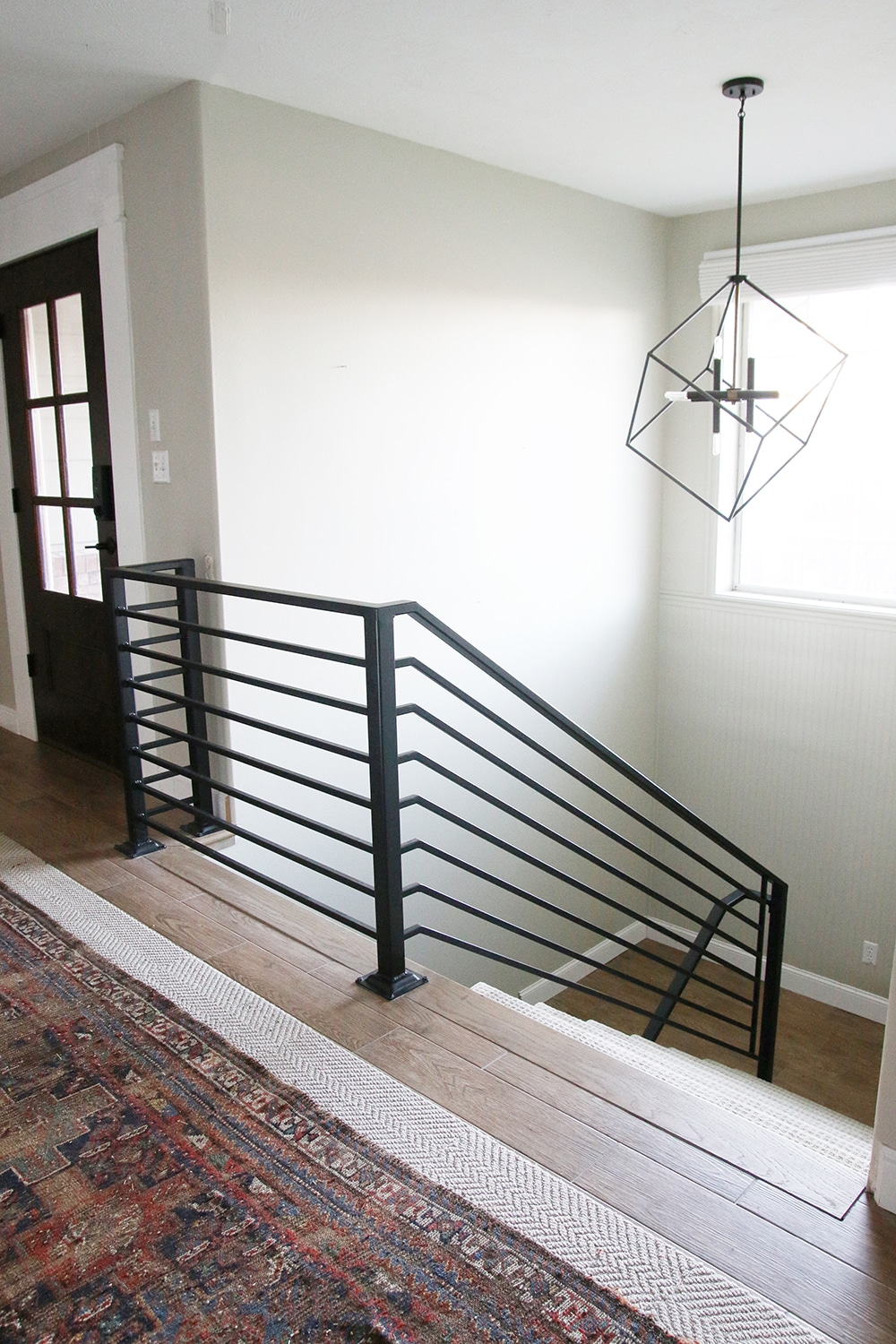 The Fabrication And Installation Of The Stair Railing Only Cost Us 1500 And It Changed Our