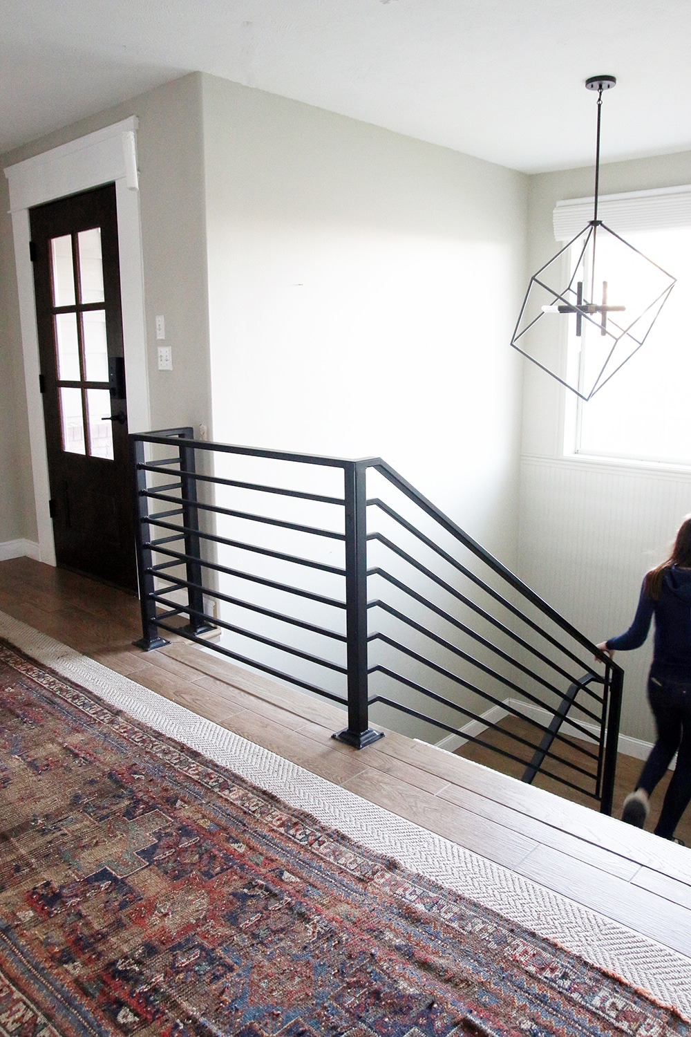 All The Details On Our New Horizontal Stair Railing