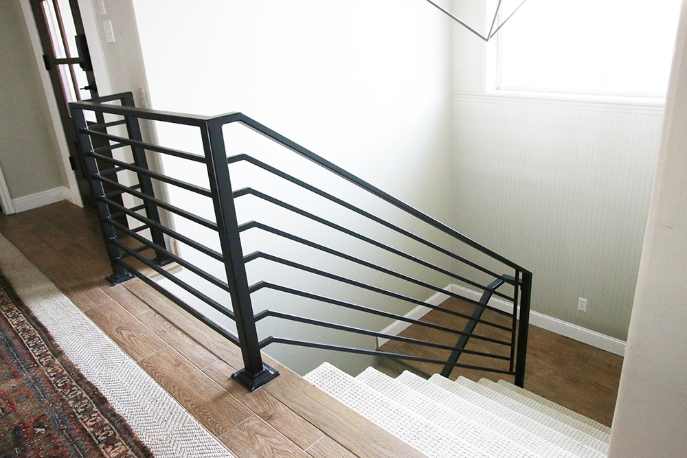 All The Details On Our New Horizontal Stair Railing Chris Loves Julia