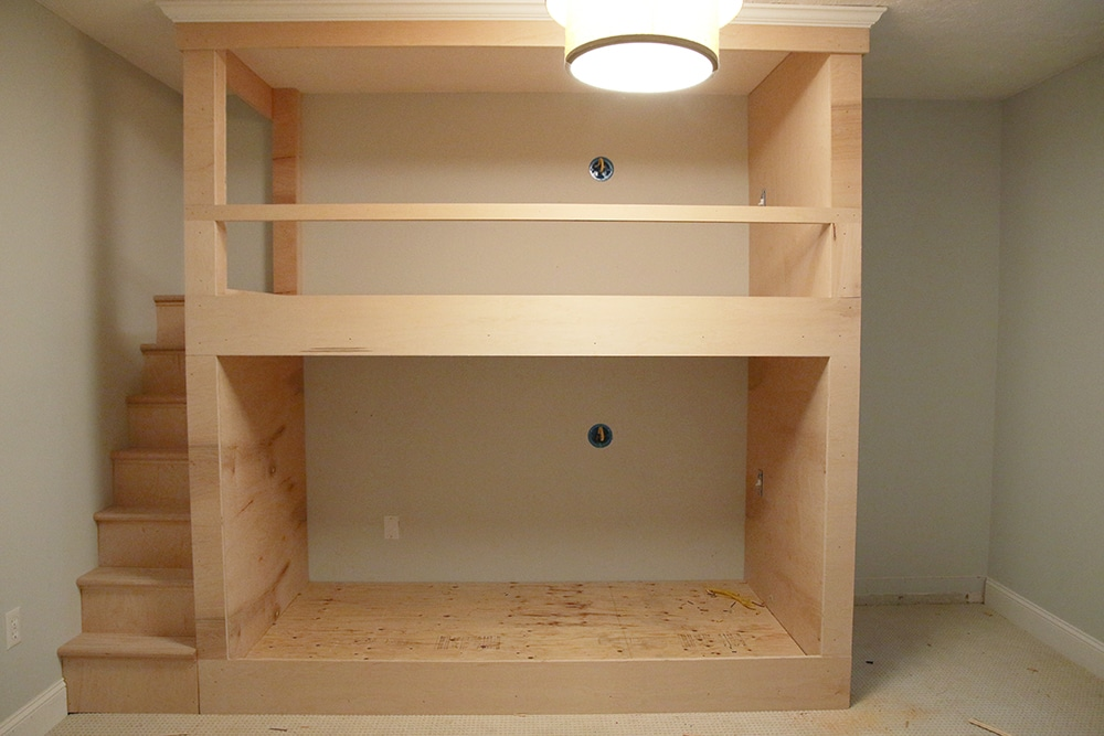 One Room Challenge: Week 2 | DIY Built-In Bunkbeds for ...