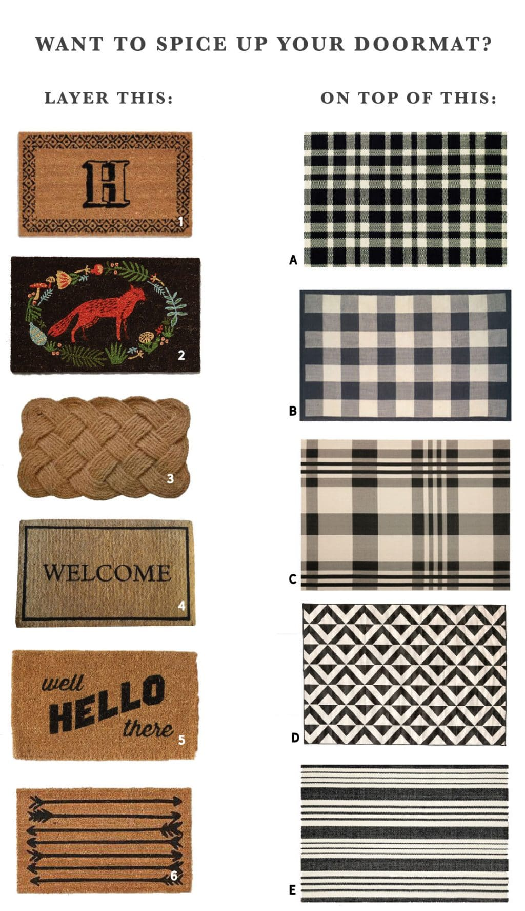 Mix And Match Layered Doormat Options A Podcast Update
