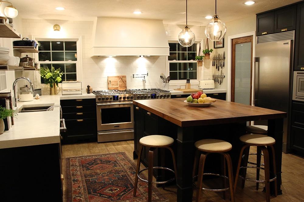 Chris Loves Julia kitchen at night