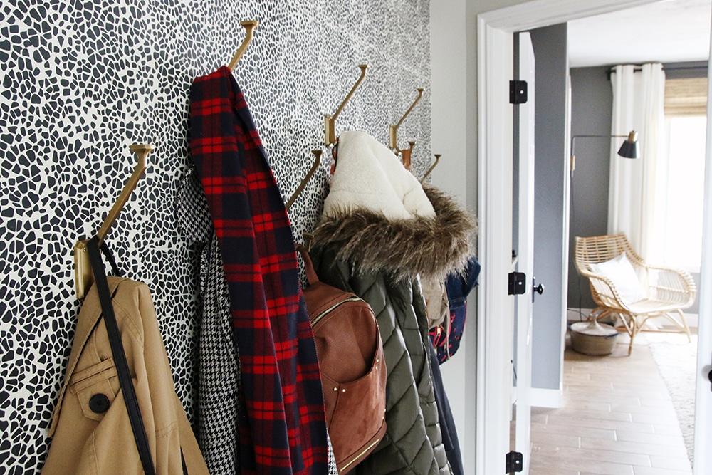 Hooks on wallpaper!