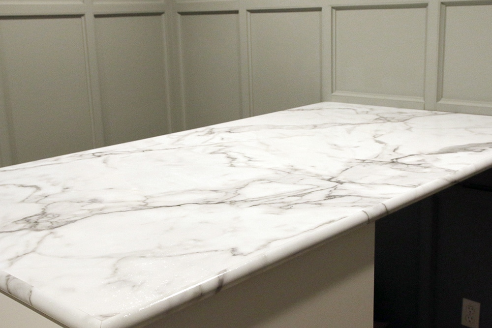 countertop love design chose formica elizabeth burns review marble why calcutta laminate blog countertops our we
