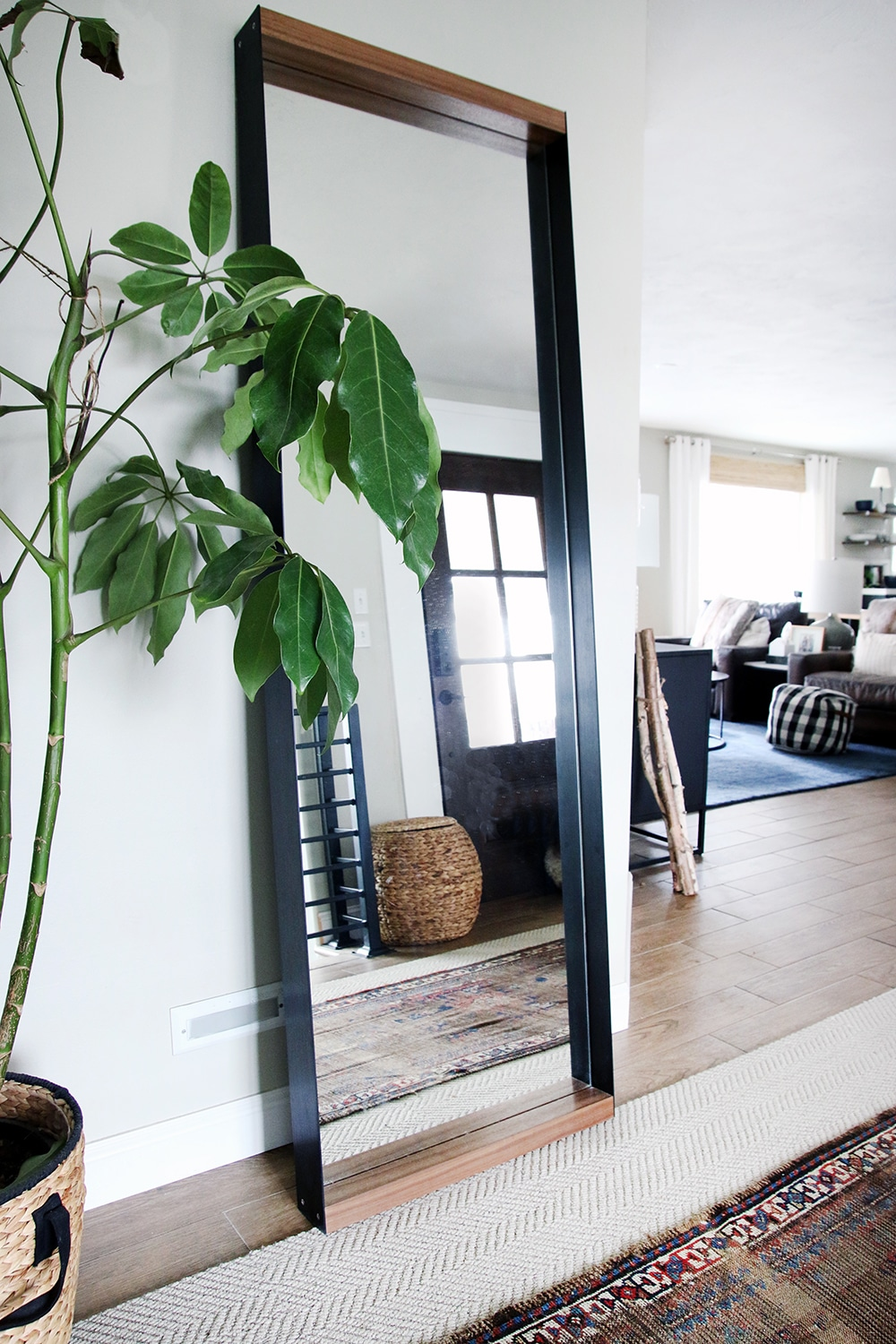 Love this large leaning mirror