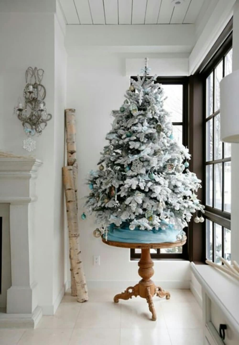 Tabletop Flocked tree