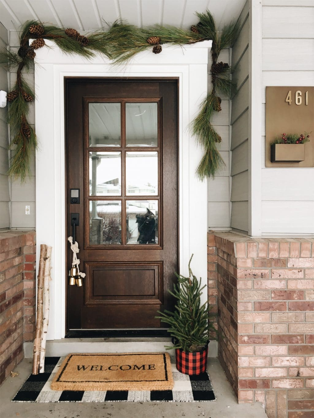 Christmas around the house chris loves julia - Front entry door ideas ...