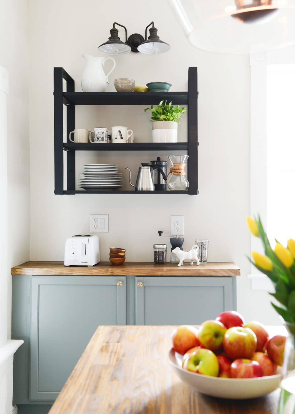 100 year old home gets a 3 day kitchen makeover for less than 5k chris loves julia - Lowes kitchen shelving ...