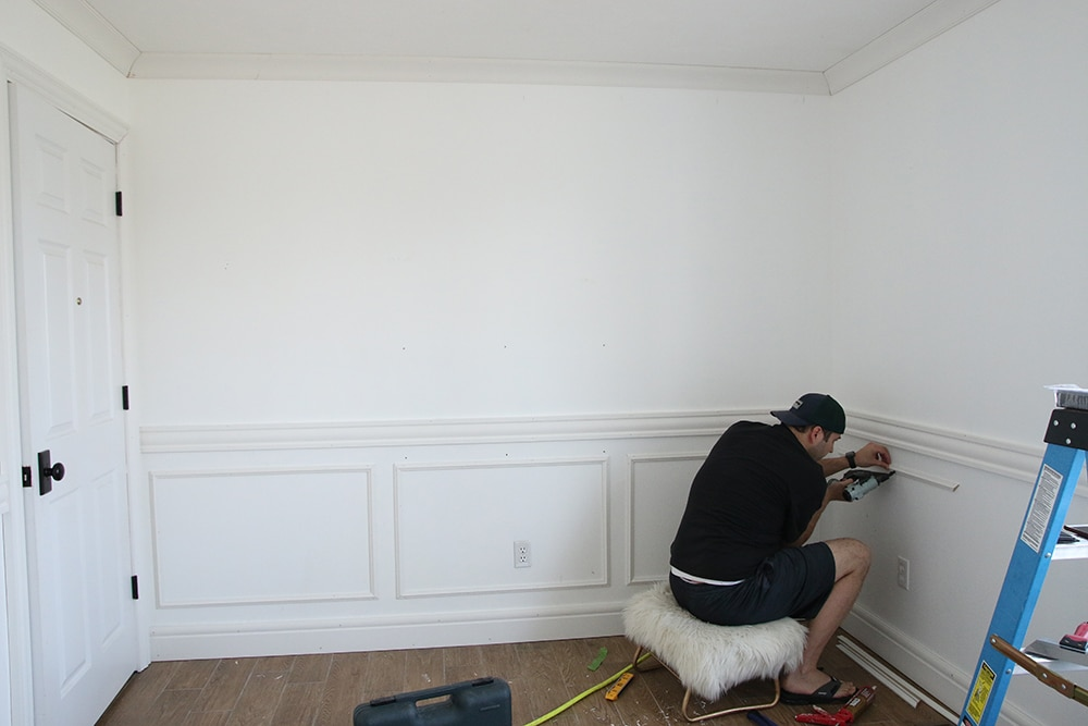 Adding Wainscoting In The Nursery