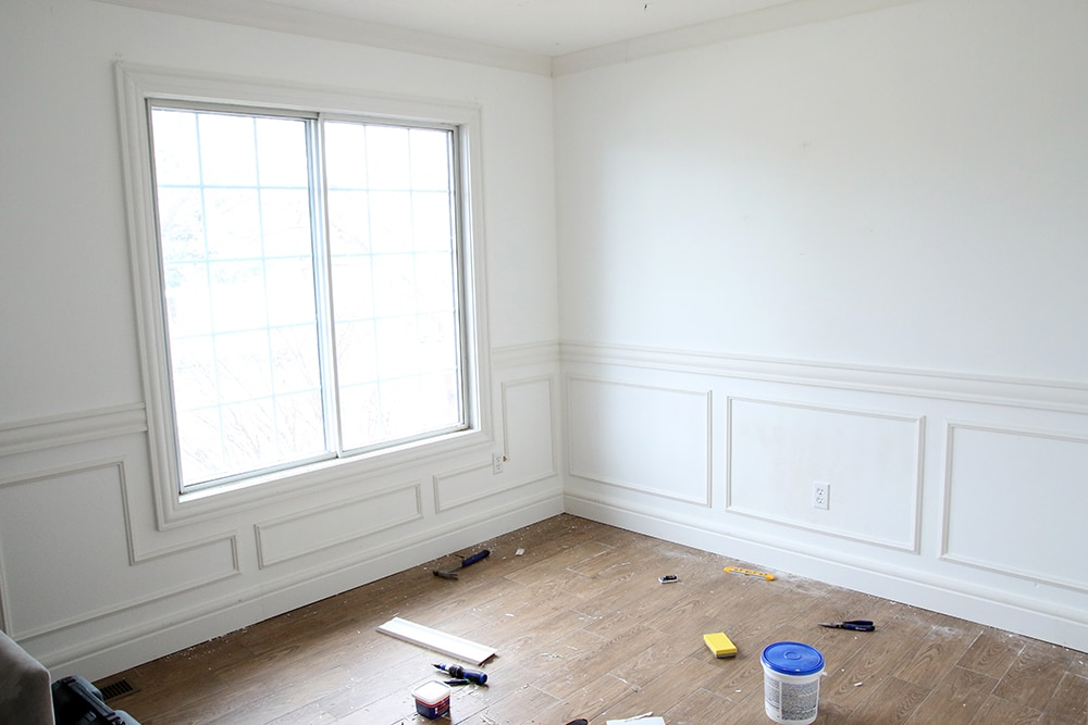 Adding Wainscoting In The Nursery One Room Challenge