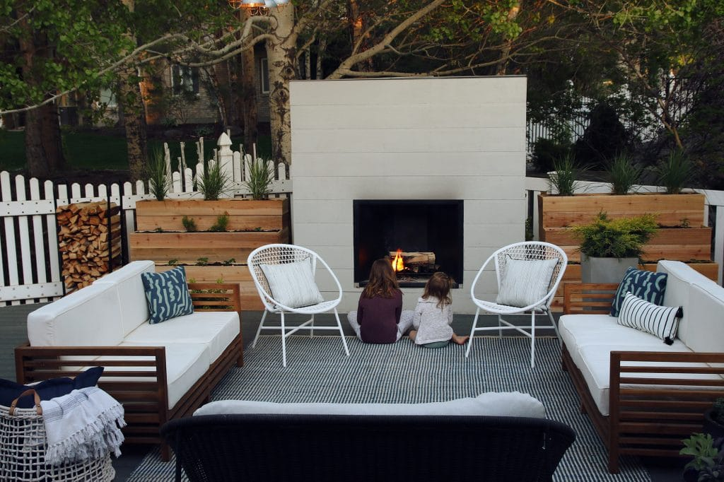 CLJ Outdoor Fireplace