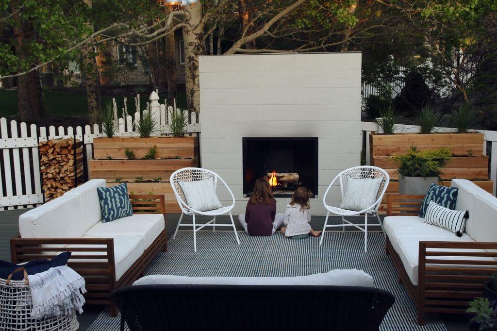 CLJ Outdoor Fireplace