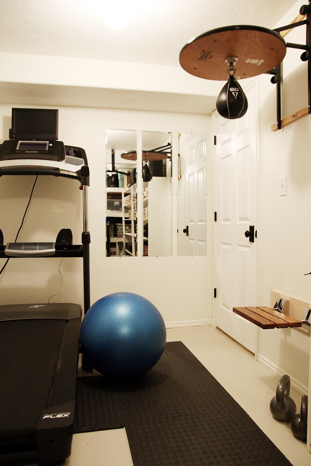 Our Little (Really Little) Home Gym - Chris Loves Julia