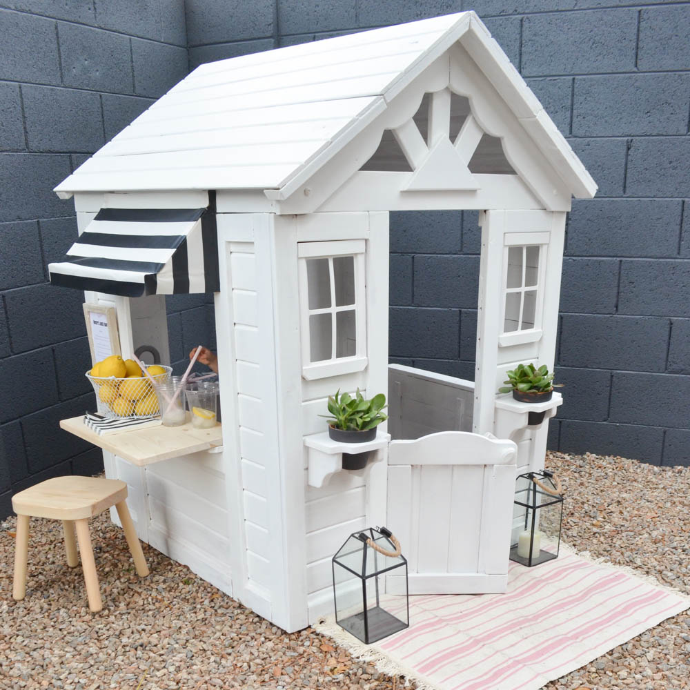 Some White Paint Over This $400 Playhouse, And Accessories From Mostly Ikea  And Target Made This Transformation Not Only Sunny, But Really Affordable!