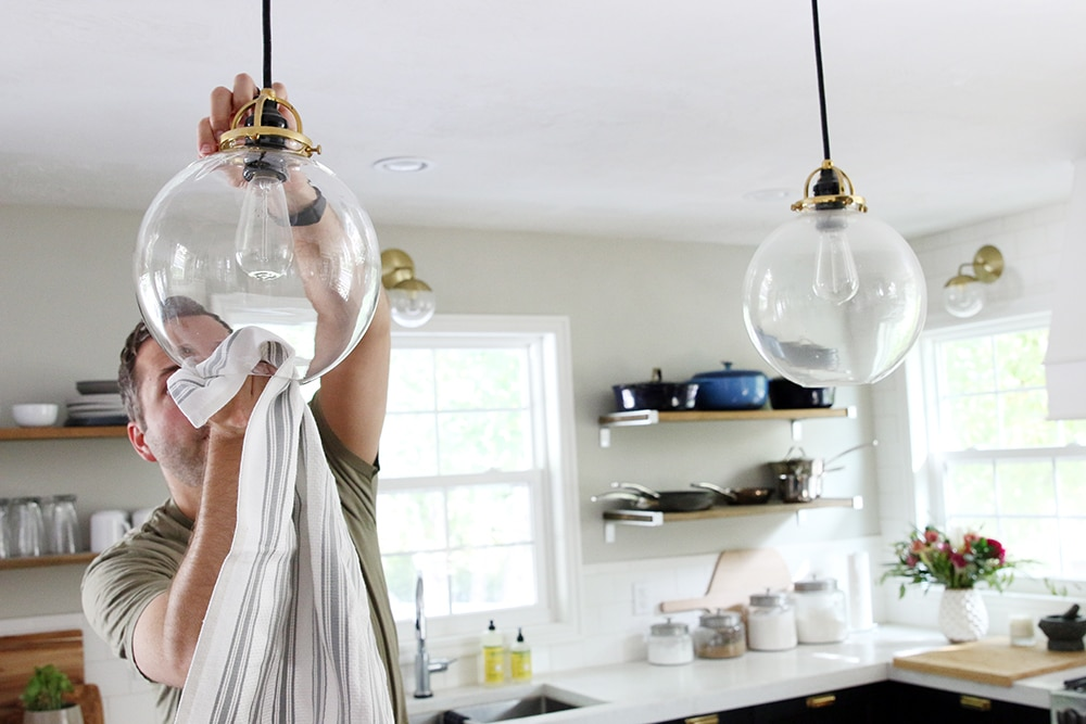 How to Clean Glass Globe Lights