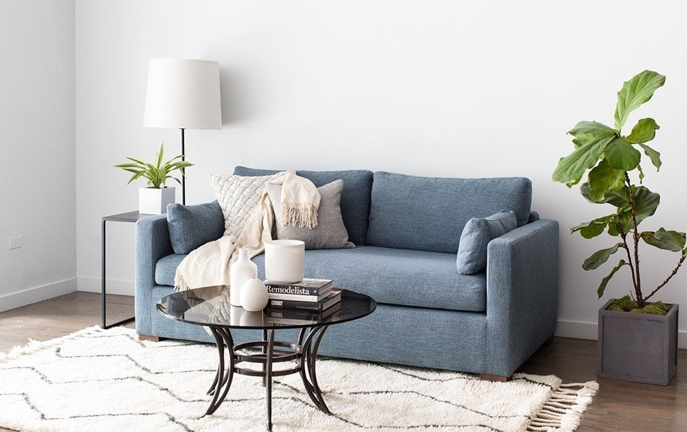 shown in interior defines rain color here which is actually the same color we ordered for our own homeim obsessed with this pretty slate blue