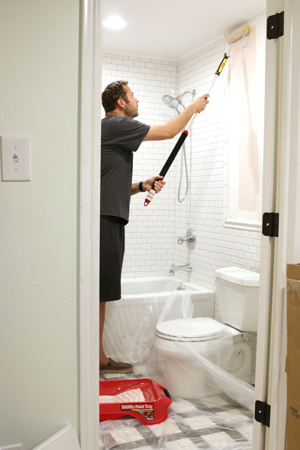choosing a paint color for our small windowless bathroom